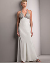 T0QX8 Beaded Halter Gown 1090.00