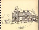 Tegning  av Villa Fredheim