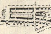 Bebyggelsesplan for Nymark av arkitekt Leif Grung. Fra tidsskriftet «Boligsak i by og bygd», 1924.