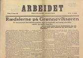«Rædslerne på Grønneviksøren». Førtesideartikkel i avisen Arbeidet 12.februar 1920.