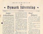 Medlemsblad for Nymark idrettslag 1931.