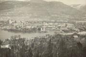 Puddefjorden med Damsgårdssundet fotografert rundt 1930.