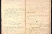 Forhandlingsprotokoll fra Tilsynsutvalget ved Takvam og Tunes skoler. De eldste innførslene er fra 1890.