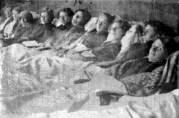 Tuberkulosepasienter ved Luster Sanatorium.