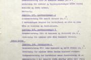 Skjønn over noen adresser i Apothekersmuget og Strandgaten. Fra utskrift av Bergen skjønnskommisjons rettsbok datert 9. desember 1916. Arkivet etter Skjønnskommisjonen for bygningssaker (A-0175, Ea:1).