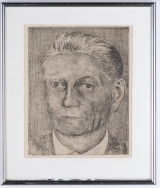 "<h5>""Portrait of a Man"" by Unknown (N/D)</h5><p>Approx. 5""x7""; Intaglio BMAS N/N</p>"