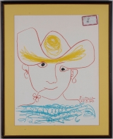 "<h5>""Young Spanish Peasant"" after Pablo Picasso (1970)</h5><p>Approx. 19""x26""; Color lithograph BMAS 1067</p>"