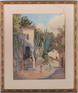"<h5>""Three Girls Running"" by Bird Spencer Newman (1895-1969)</h5><p>Approx. 15""x18""; Watercolor on paper BMAS 1064</p>"