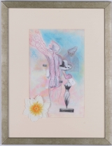 "<h5>""Two Figures"" by Edna Dagan (N/D)</h5><p>Approx. 10""x16""; Embellished mechanical print BMAS 1039</p>"
