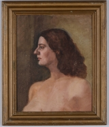 "<h5>""Untitled [Portrait of Woman]"" by Unknown (N/D)</h5><p>Approx. 17""x21""; Oil on canvas BMAS 1033</p>"