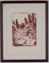 "<h5>""Summer Day"" by Karl Schrag (1988)</h5><p>Approx. 17""x20""; Lithograph BMAS 1016</p>"