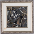 "<h5>""Metallic abstract"" by Eve Shpritser (N/D)</h5><p>Approx. 15""x15""; Embellished print BMAS N/N</p>"