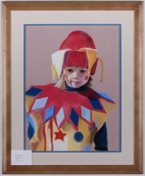 "<h5>""The Jester"" by Joyce Levine (N/D)</h5><p>Approx. 18'x24""; Pastel on paper BMAS N/N</p>"