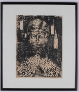 "<h5>""Untitled [Face]"" by Unknown (N/D)</h5><p>Approx. 15""x21""; Relief print BMAS 1042</p>"