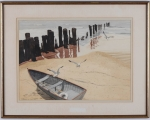 "<h5>""Shoreline"" by George A. Fish (N/D)</h5><p>Approx. 12""x16""; Monoprint BMAS N/N</p>"