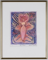 "<h5>""Sky Goddess"" by Susan Reinstein (N/D)</h5><p>Approx. 7""x9""; Colored Intaglio BMAS 1053</p>"
