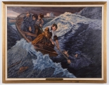 "<h5>""Rescue of March 29, 1869"" by John Witt (N/D)</h5><p>Approx. 24""x36""; Oil on canvas BMAS N/N</p>"