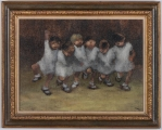 "<h5>""Untitled [Children Dancing]"" by Leonard E. Creo (N/D)</h5><p>Approx. 17""x24""; Oil on canvas BMAS 1019</p>"