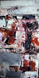 <h5>Inside Job</h5><p>Acrylic and plaster on plywood</p>
