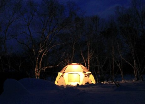 Ski-Expedition Kamtchatka: Nachtleben