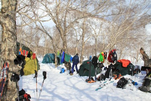 Ski-Expedition Kamtschatka: Zeltlager