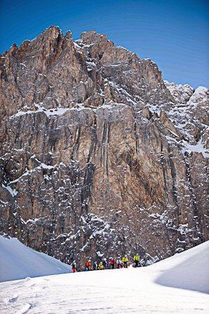 Skitouren Val-Maira / Abfahrt Lago del Viraysse