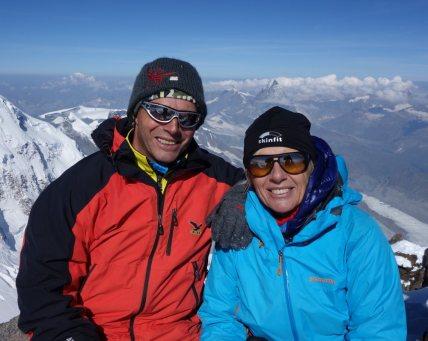 Hochtour Dufourspitze / Matterhorn im Hintergrund