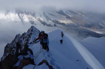Hochtour Dufourspitze / Westgrat