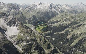 Lage Bergland Appartement im Sommer - Ansicht vom Gipfel des Biberkopfs