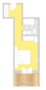 floor plan double room