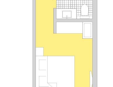 Grundrissdarstellung Doppelzimmer