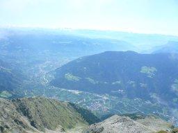 2500m unter uns liegt das Vinschgau