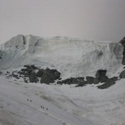 Großer Gletscherbruch beim Einstieg