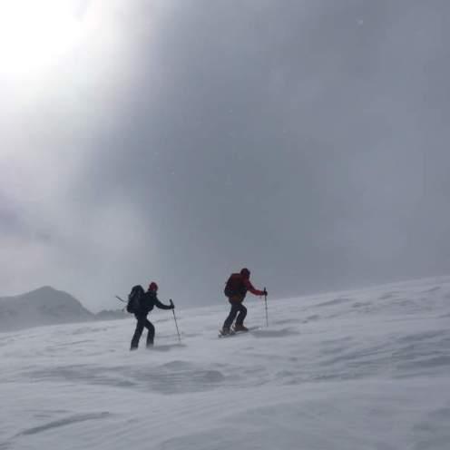 Aufstieg am Gletscher