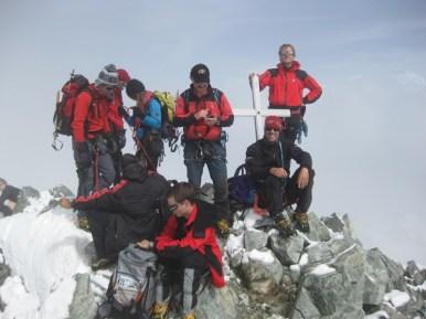 Das Gipfelkreuz des Barre Des Écrins