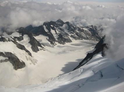 Die ganze Gletschertour von Gipfel