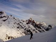 Abfahrt vom Gipfel