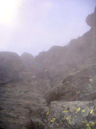 Versicherte Passage zum Gipfel