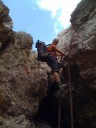 Eisenleiter im Klettersteig