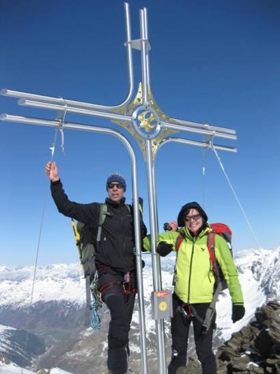 Gipfelkreuz Langtauferer Spitze