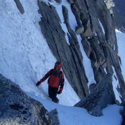 Beim Abstieg vom Gipfel