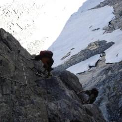 Christine und Artur am Klettersteig