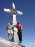 Artur und ich am Gipfelkreuz