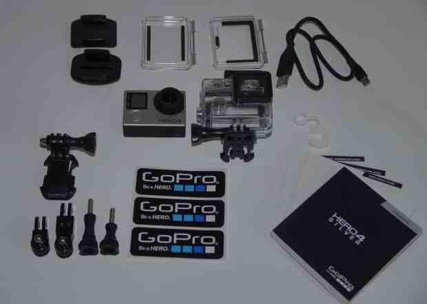 GoPro Hero 4 Silver Test Lieferumfang zubehör