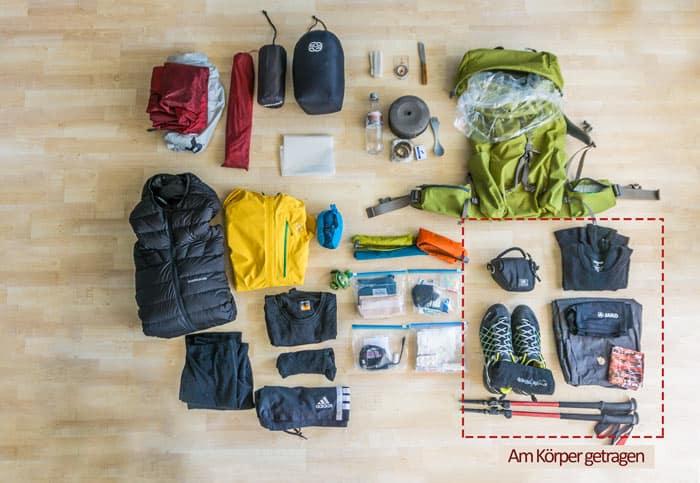 Trekking Packliste ultraleicht Trekking