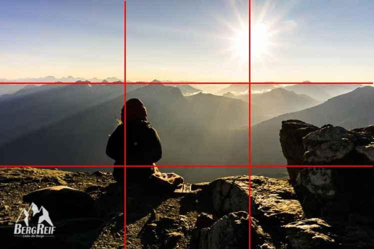 Bergfotos Drittel Regel Goldener Schnitt