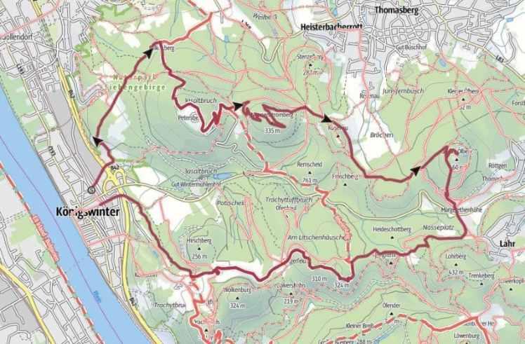 Im Siebengebirge Wandern Hinauf Zum Grossen Olberg Bergreif