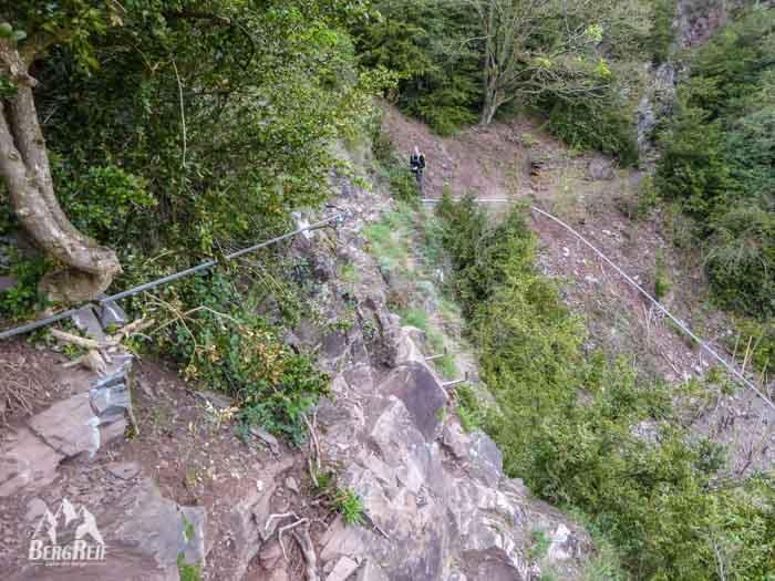 Klettersteig Calmont : Calmont klettersteig bergwandern 300m über der mosel bergreif
