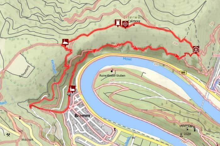 Klettersteig Karte : Calmont klettersteig bergwandern m über der mosel bergreif