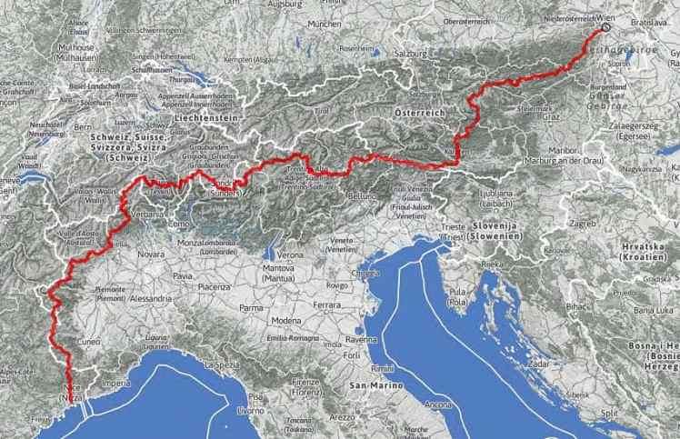 alpenüberquerung zu fuß routen